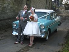 Vintage, Classic 1950's American Wedding Car Service - Barnsley Area